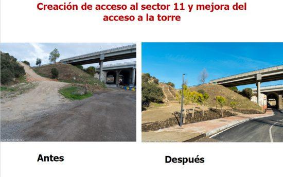 incremento áreas peatonales